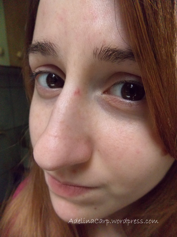 scratched my nose in carrefour and when i tried to take a pic it made my nose huge